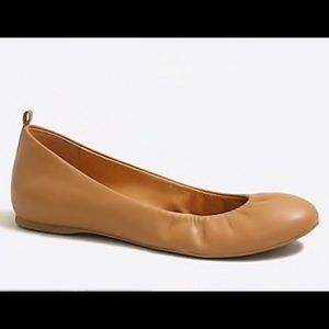 8.5 J. Crew ballet flats in buttery tan leather